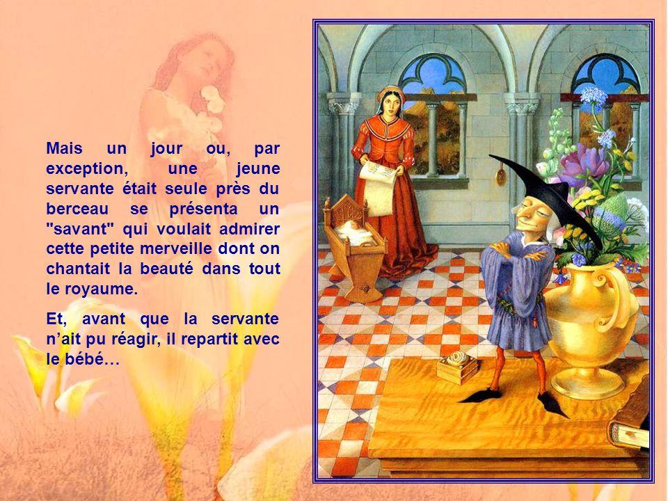 Deux nourrices furent affectées à la surveillance constante du berceau, et les bonnes fées du royaume furent consultées.