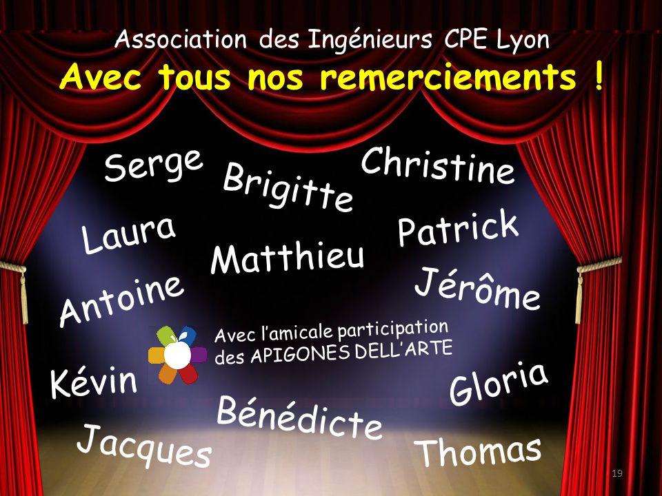 Association des Ingénieurs CPE Lyon Avec tous nos remerciements .