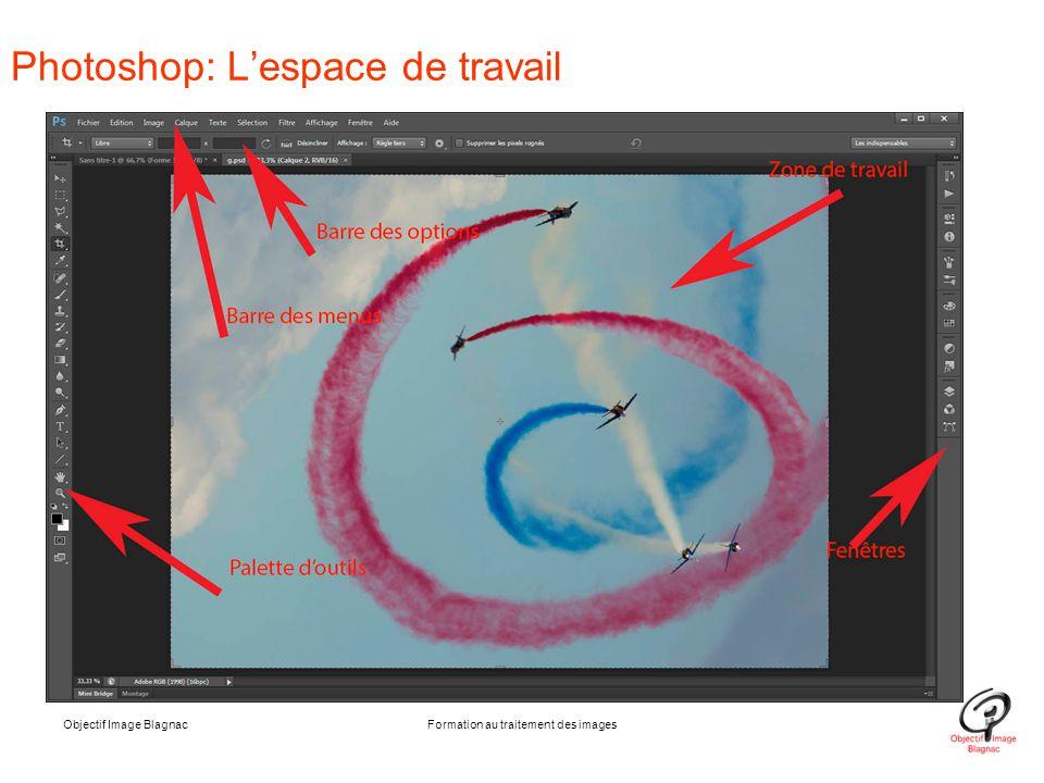 Objectif Image BlagnacFormation au traitement des images Photoshop: L'espace de travail