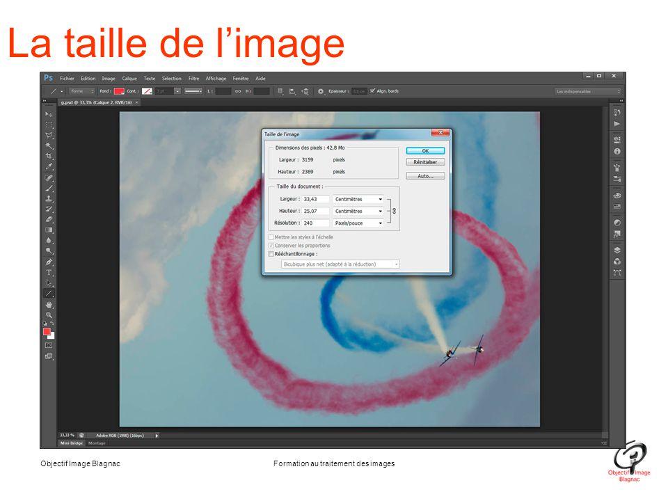 Objectif Image BlagnacFormation au traitement des images La taille de l'image
