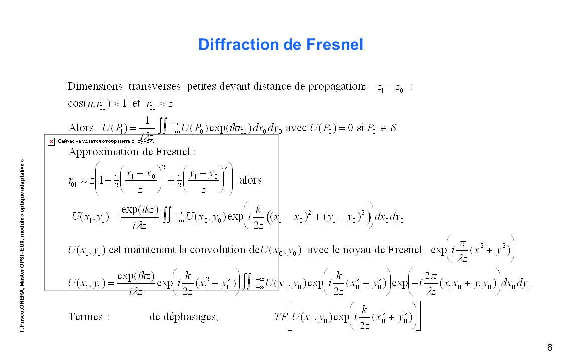 T. Fusco,ONERA, Master OPSI - EU8, module « optique adaptative » 7 Diffraction de Fraunhofer
