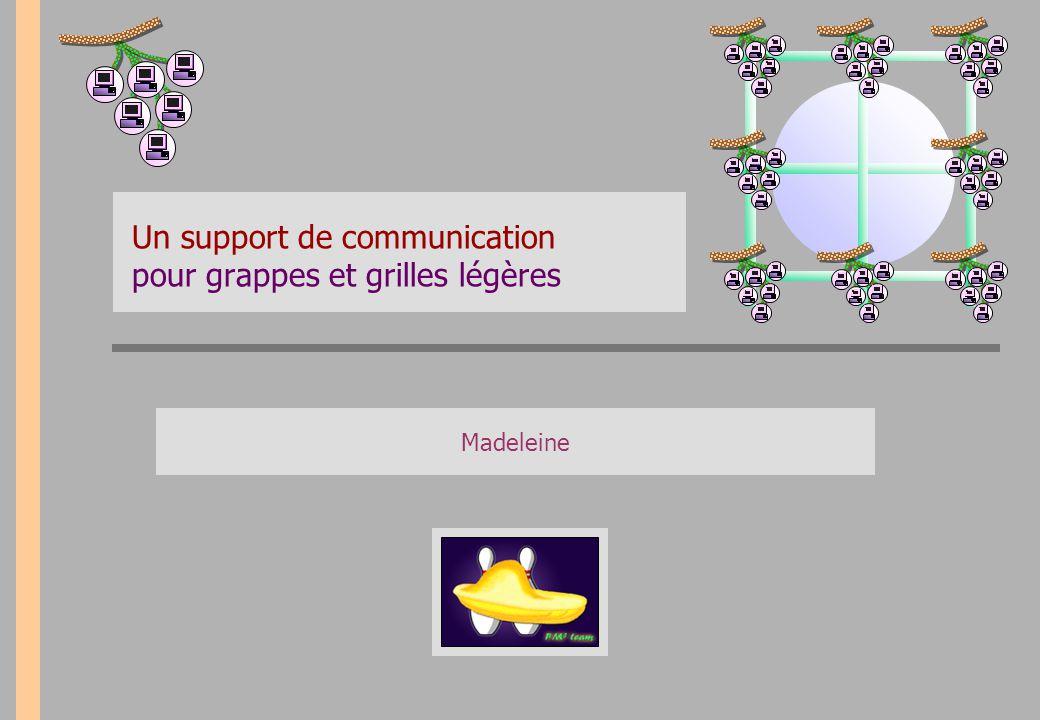Madeleine Un support de communication pour grappes et grilles légères