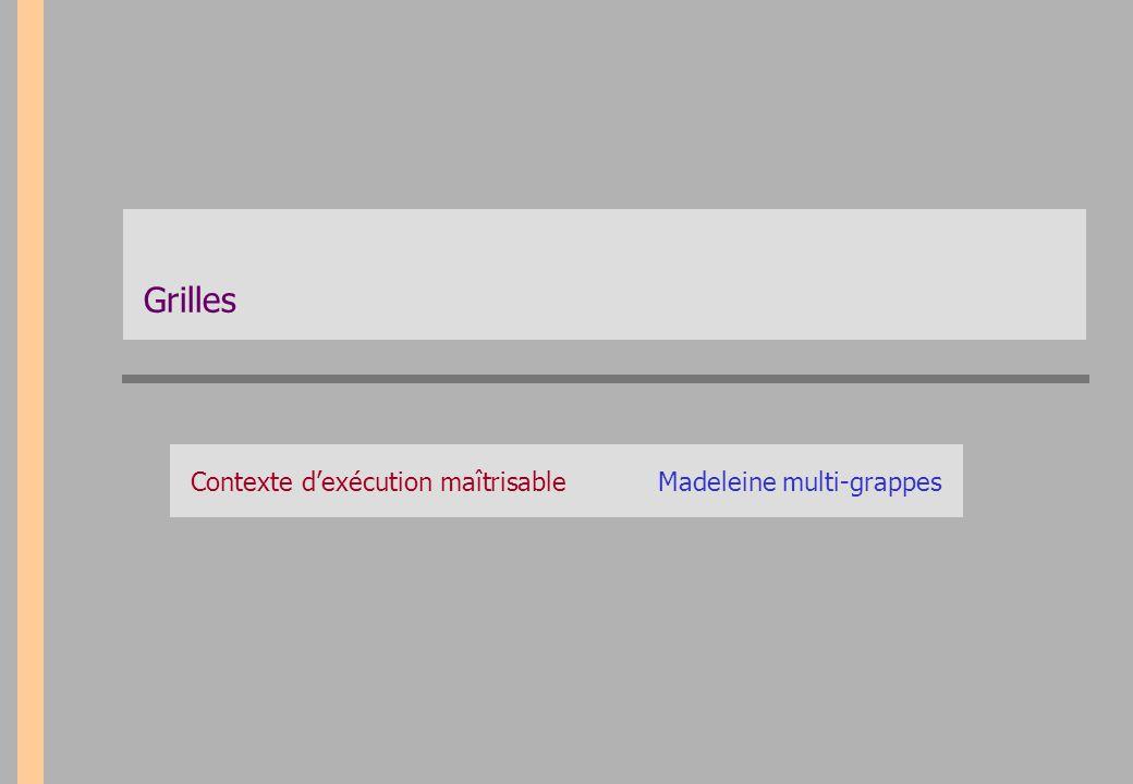 Grilles Contexte d'exécution maîtrisableMadeleine multi-grappes
