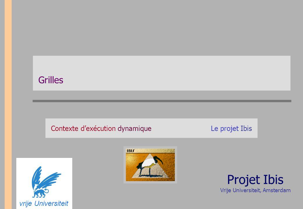 Grilles Contexte d'exécution dynamiqueLe projet Ibis vrije Universiteit Projet Ibis Vrije Universiteit, Amsterdam