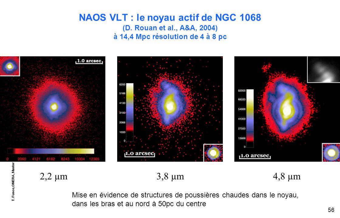 T. Fusco,ONERA, Master OPSI - EU8, module « optique adaptative » 56 NAOS VLT : le noyau actif de NGC 1068 (D. Rouan et al., A&A, 2004) à 14,4 Mpc réso