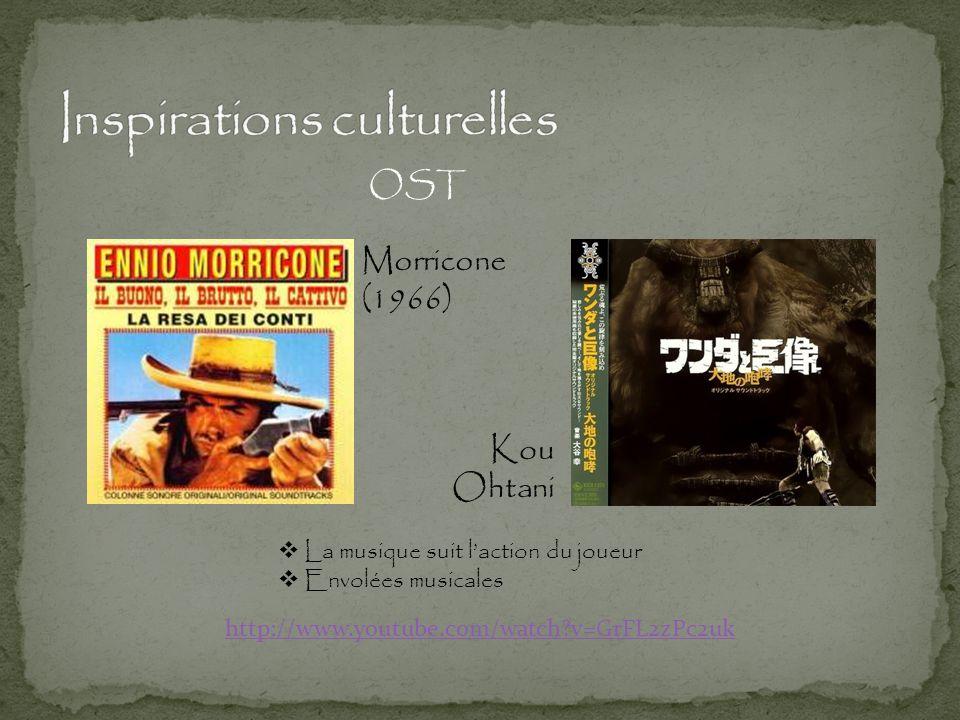 Kou Ohtani Morricone (1966) OST http://www.youtube.com/watch?v=GrFL2zPc2uk  La musique suit l'action du joueur  Envolées musicales