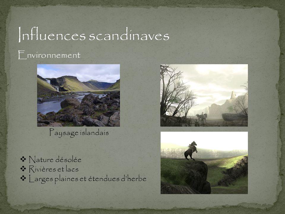 Paysage islandais Environnement  Nature désolée  Rivières et lacs  Larges plaines et étendues d'herbe