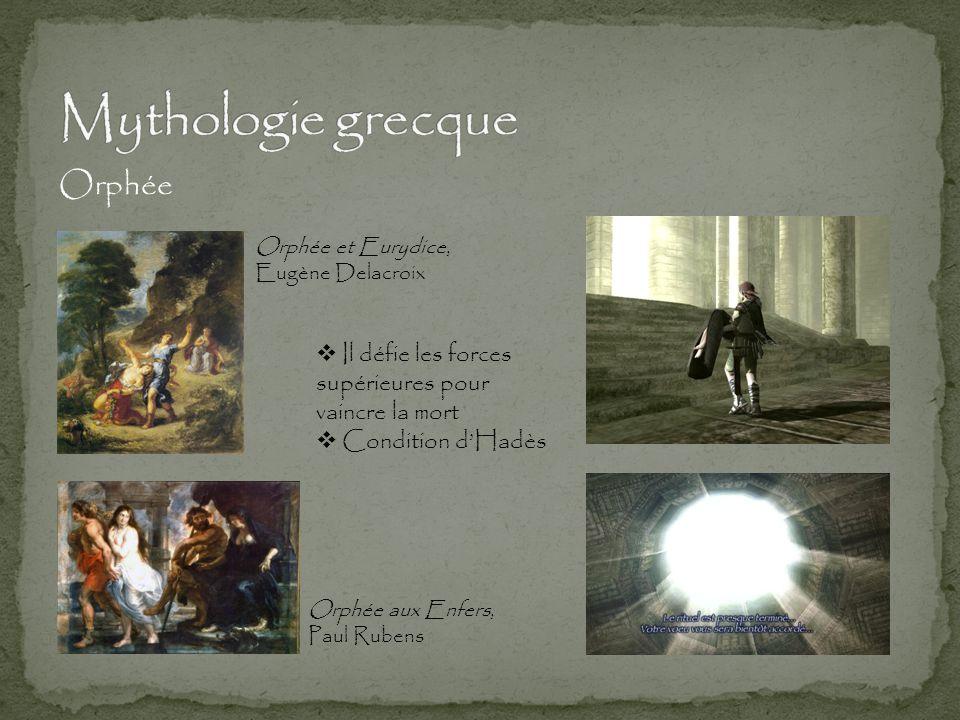 Orphée Orphée aux Enfers, Paul Rubens Orphée et Eurydice, Eugène Delacroix  Il défie les forces supérieures pour vaincre la mort  Condition d'Hadès