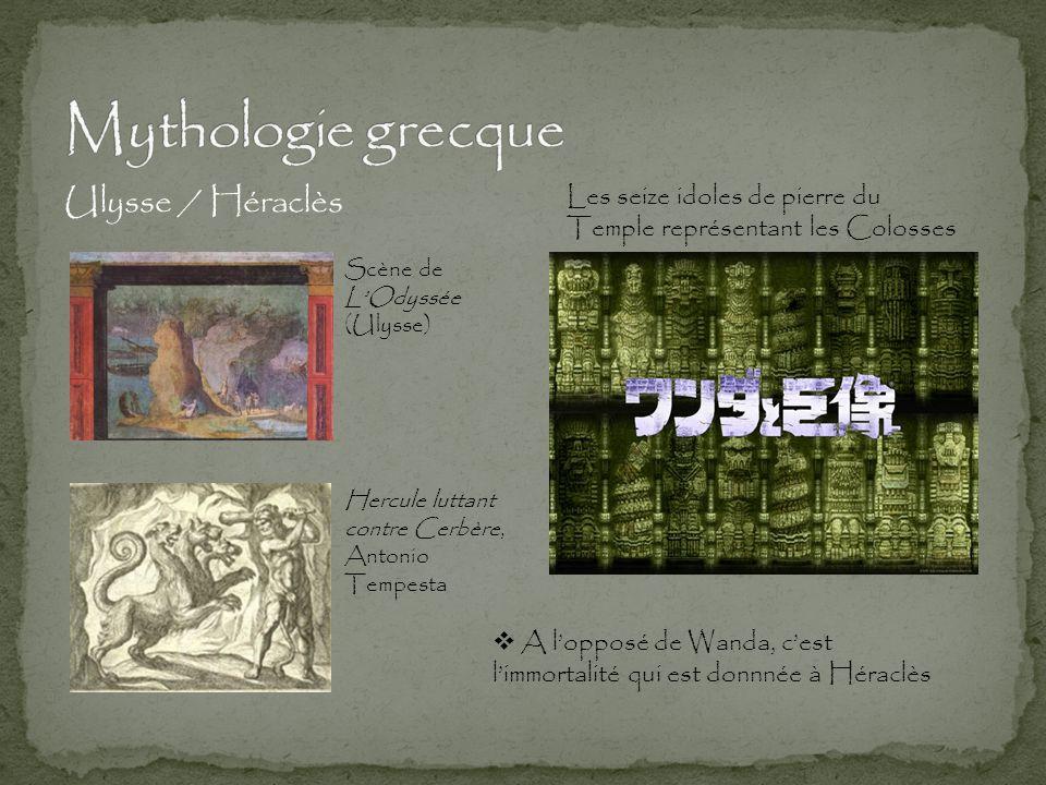 Ulysse / Héraclès Les seize idoles de pierre du Temple représentant les Colosses Hercule luttant contre Cerbère, Antonio Tempesta Scène de L'Odyssée (