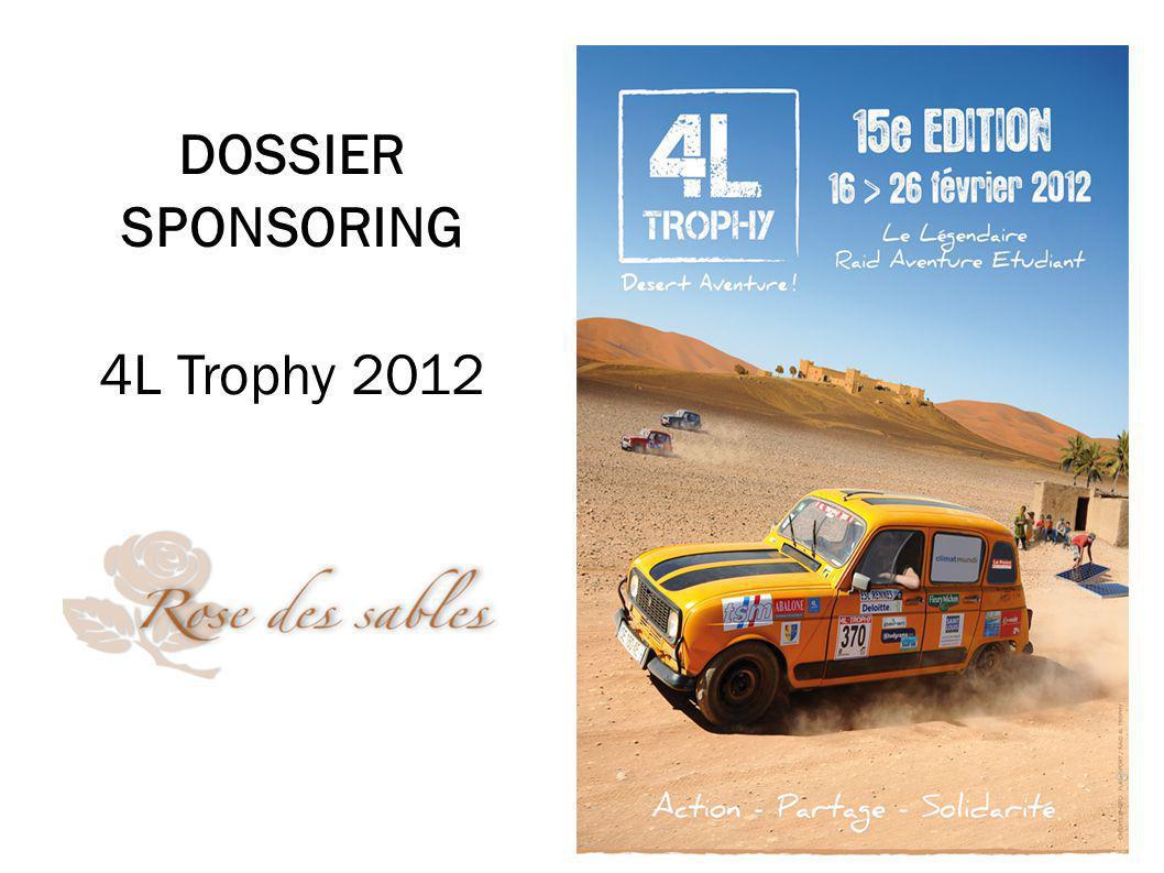 DOSSIER SPONSORING 4L Trophy 2012