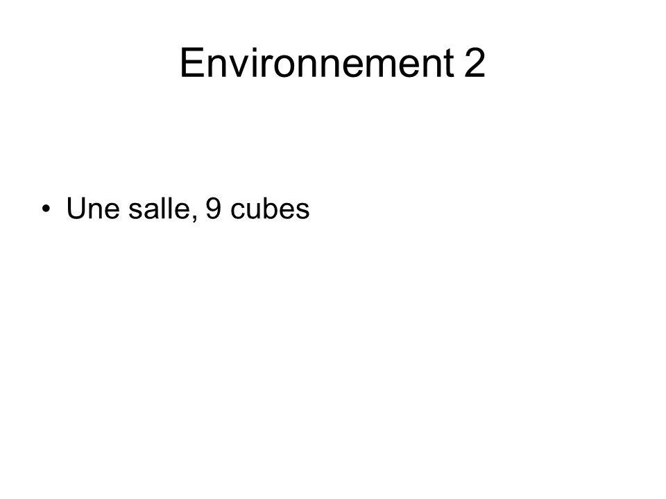 Environnement 2 Une salle, 9 cubes