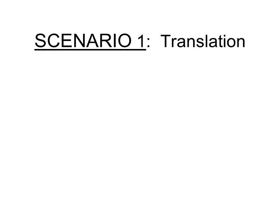 SCENARIO 1: Translation