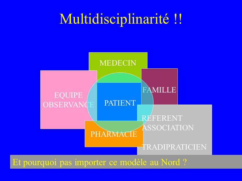 Multidisciplinarité !! MEDECIN EQUIPE OBSERVANCE FAMILLE PHARMACIE PATIENT REFERENT ASSOCIATION TRADIPRATICIEN Et pourquoi pas importer ce modèle au N