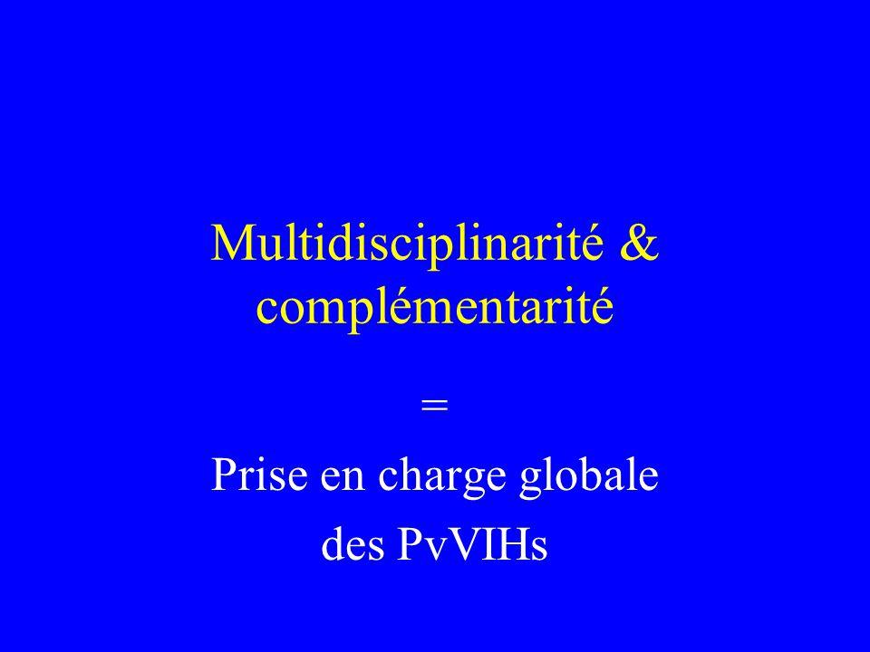 Multidisciplinarité & complémentarité = Prise en charge globale des PvVIHs
