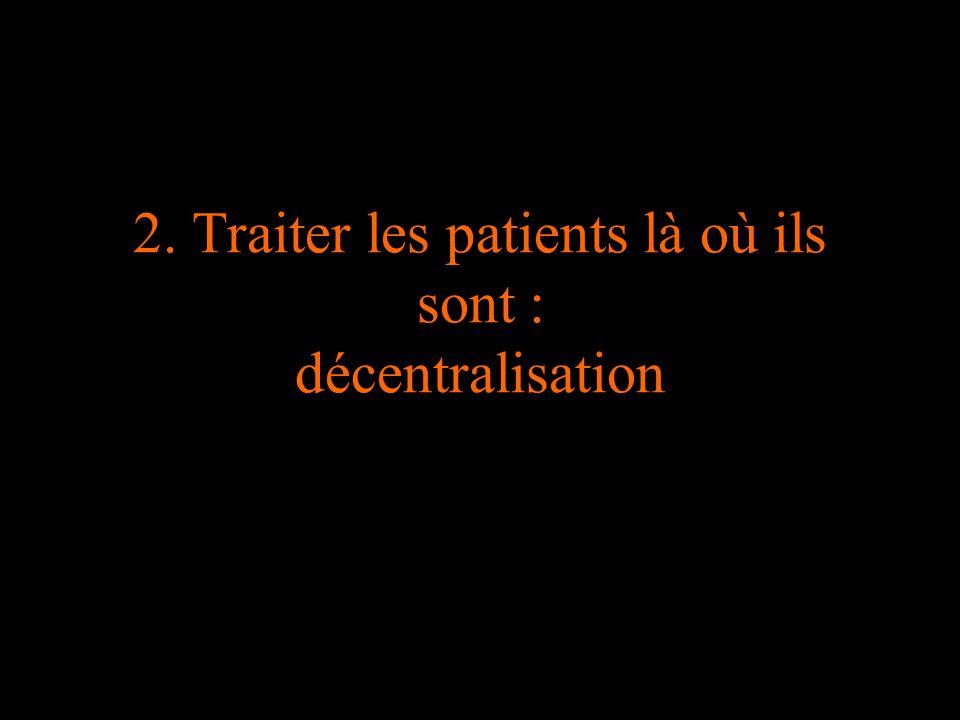 2. Traiter les patients là où ils sont : décentralisation
