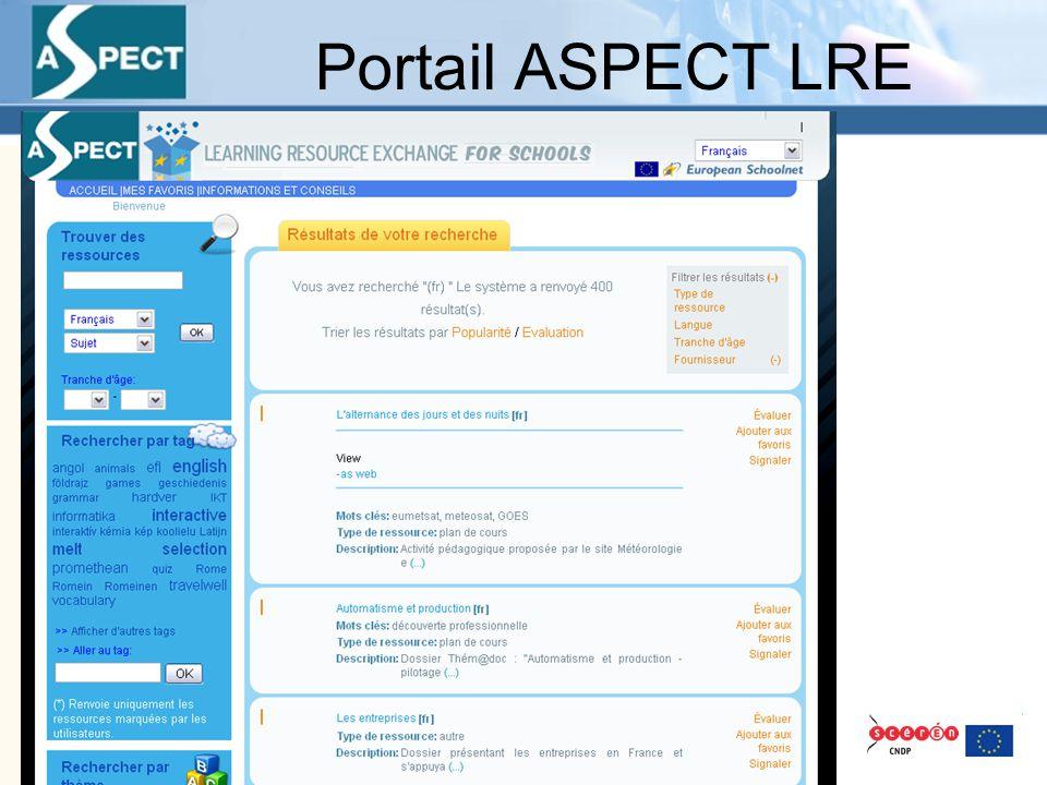 Portail ASPECT LRE