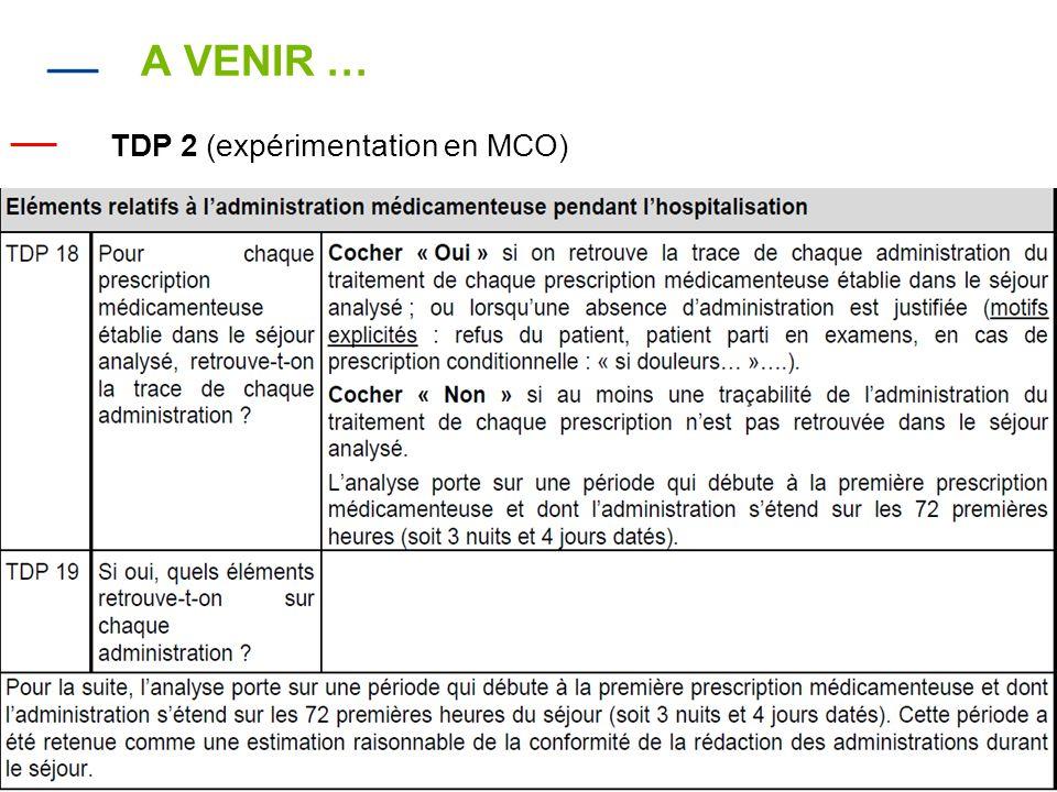 14 A VENIR … — TDP 2 (expérimentation en MCO)