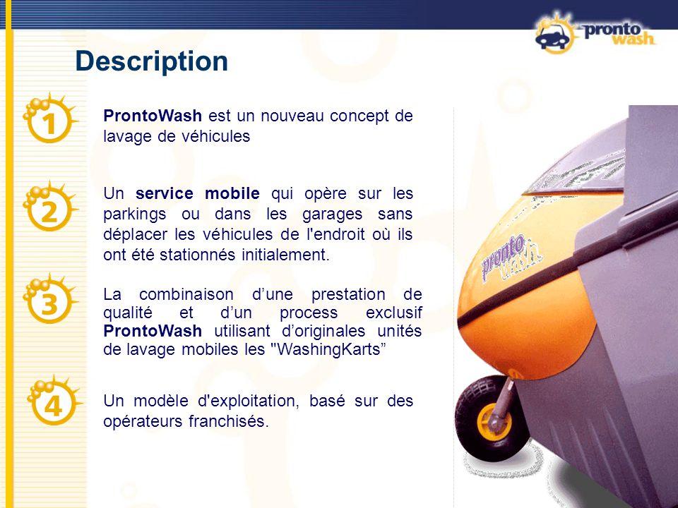 3 WashingKarts Les WashingKarts sont conçus, dessinés et fabriqués par ProntoWash, en utilisant une technologie de pointe.