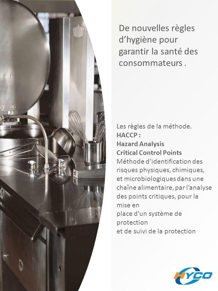 De nouvelles règles d'hygiène pour garantir la santé des consommateurs. Les règles de la méthode. HACCP : Hazard Analysis Critical Control Points Méth