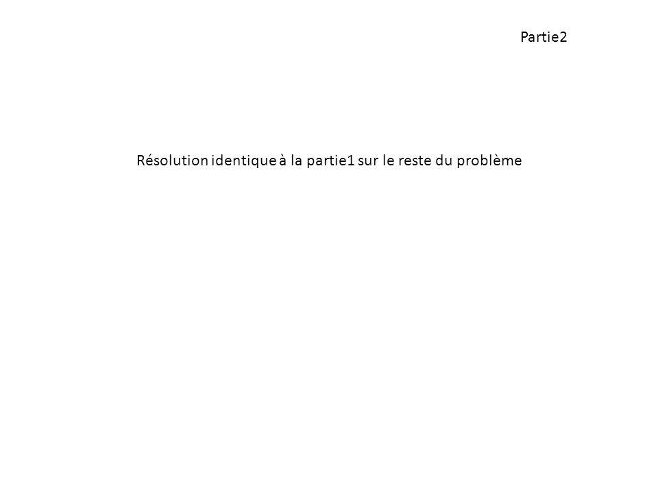 Partie2 Résolution identique à la partie1 sur le reste du problème