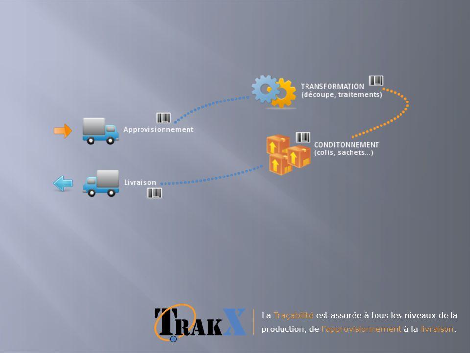 La Traçabilité est assurée à tous les niveaux de la production, de l'approvisionnement à la livraison.