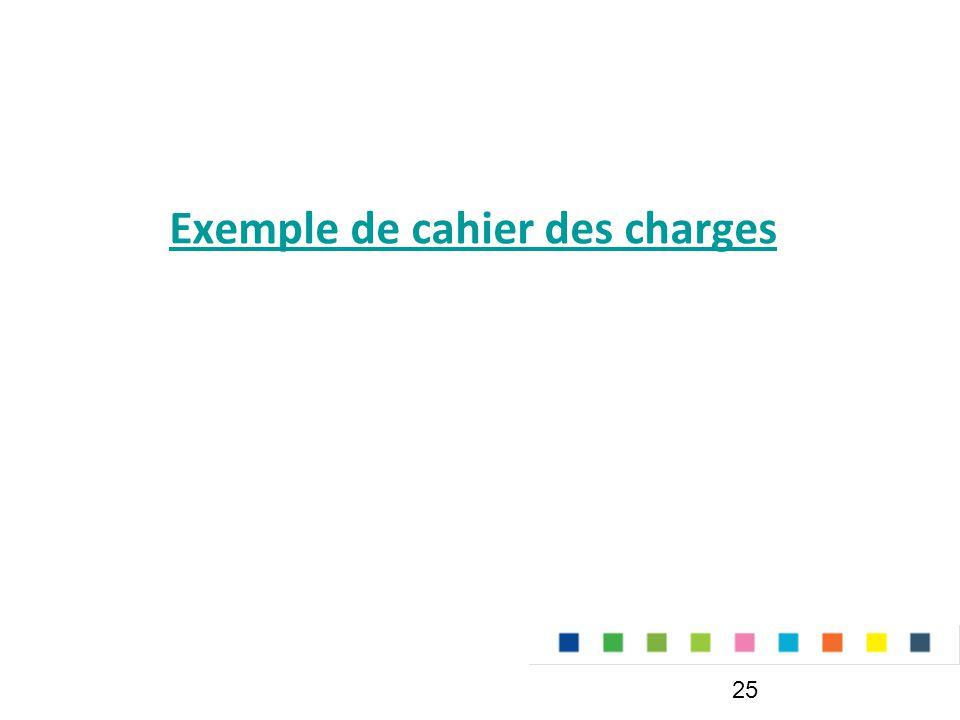 Exemple de cahier des charges 25