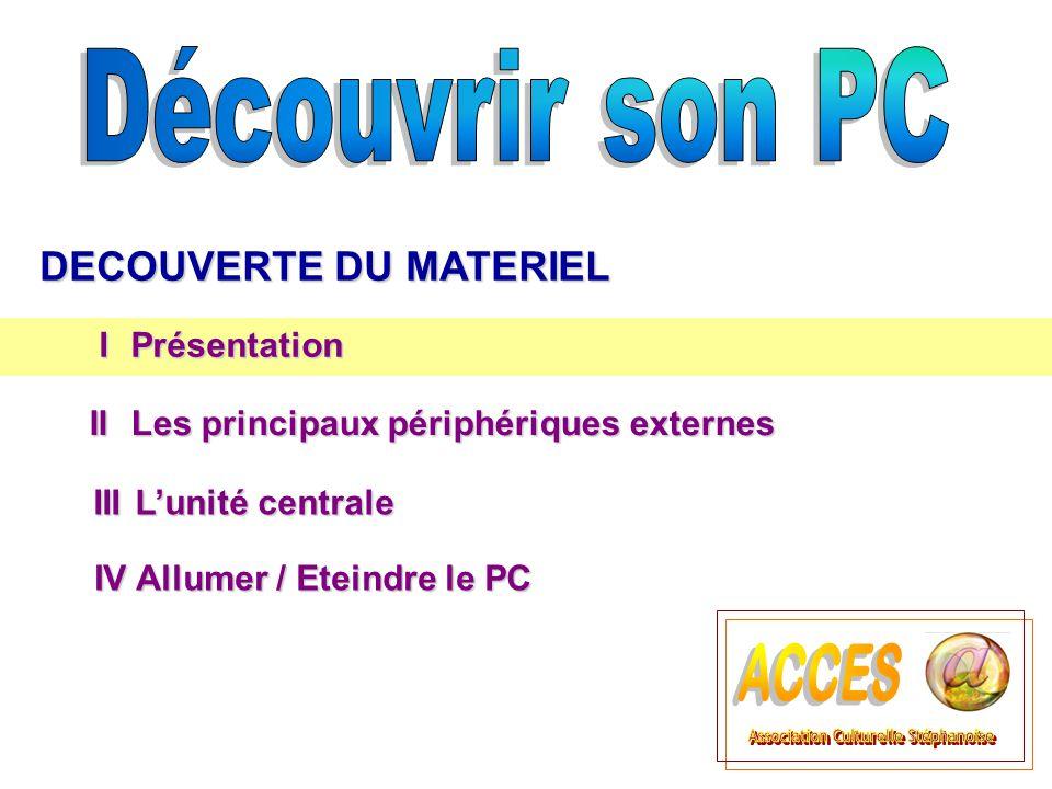 U nité C entrale L'unité centrale L'UC intègre les différents éléments essentiels de l ordinateur (carte mère, processeur, mémoire, disque dur, carte graphique...).