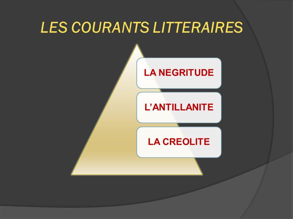 LES COURANTS LITTERAIRES LA NEGRITUDEL'ANTILLANITELA CREOLITE