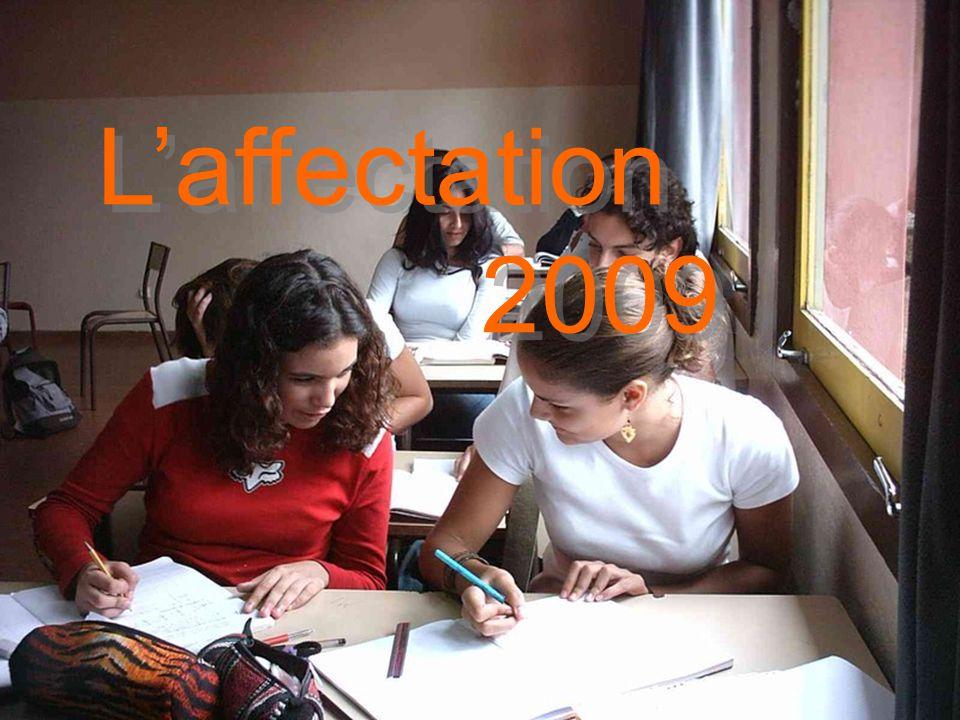 L'affectation 2009