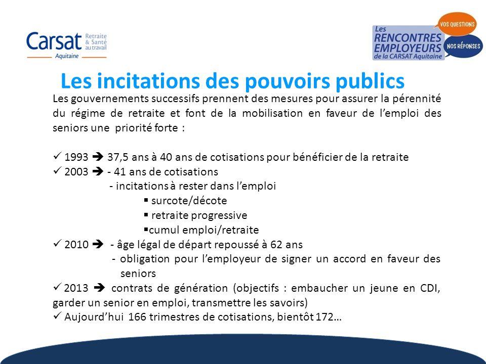5 Les gouvernements successifs prennent des mesures pour assurer la pérennité du régime de retraite et font de la mobilisation en faveur de l'emploi d