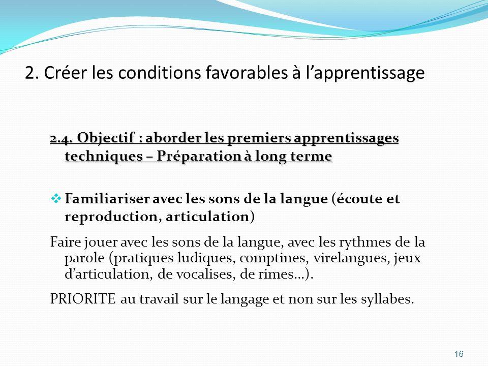 2.Créer les conditions favorables à l'apprentissage 2.4.