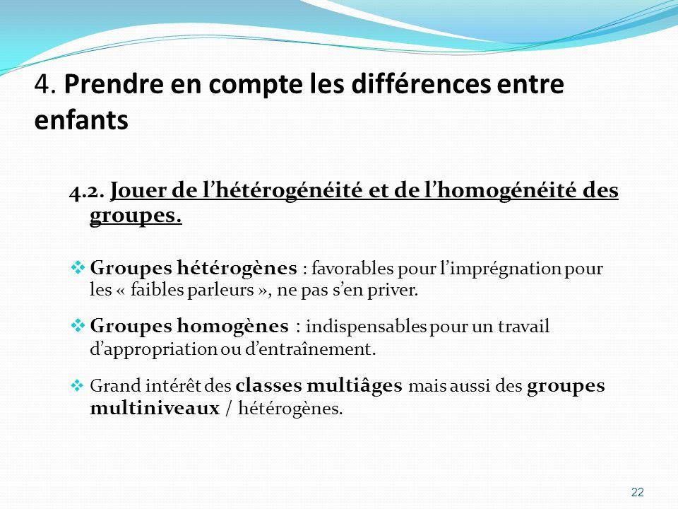 4.Prendre en compte les différences entre enfants 4.2.