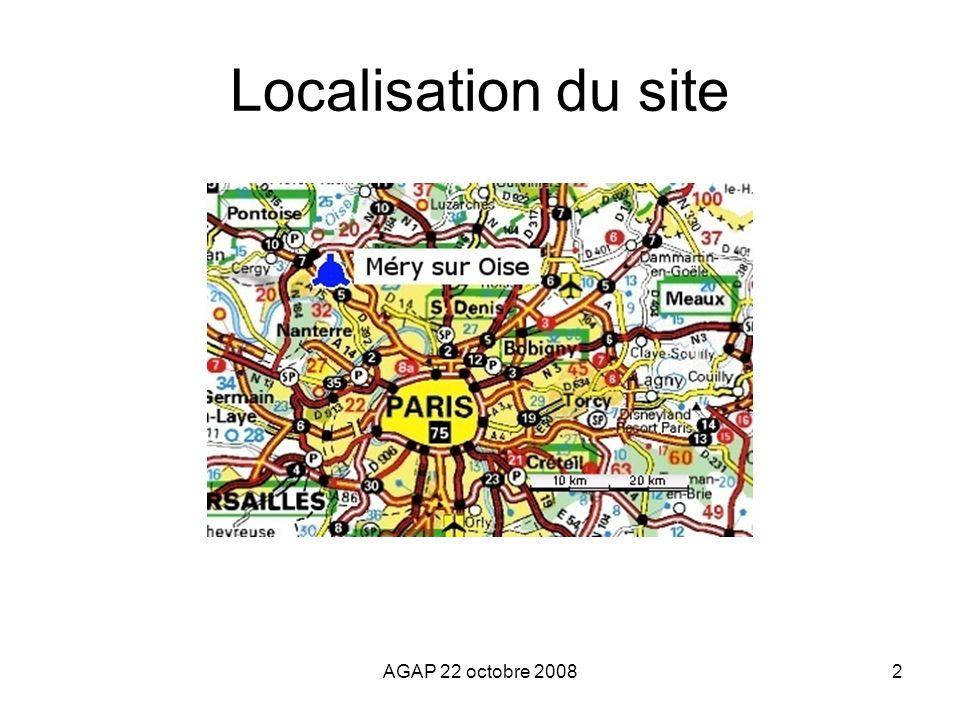 AGAP 22 octobre 20082 Localisation du site