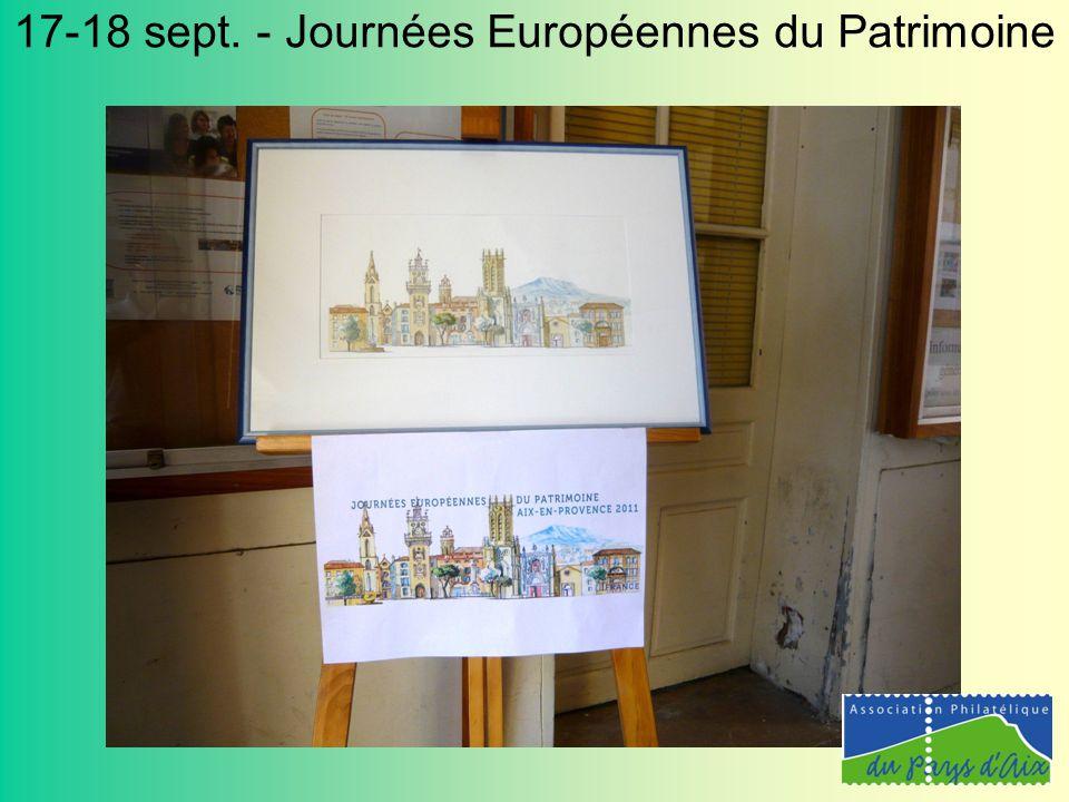 17-18 sept. - Journées Européennes du Patrimoine