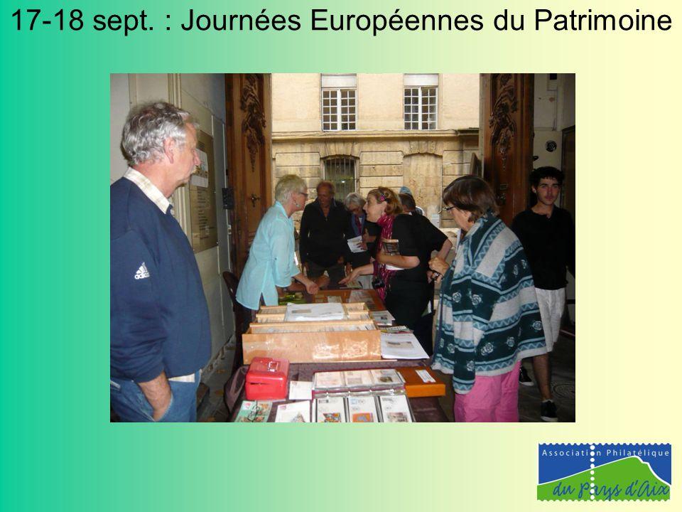 17-18 sept. : Journées Européennes du Patrimoine