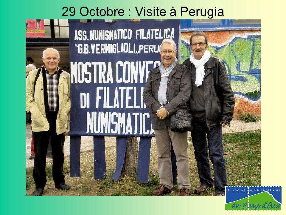 29 Octobre : Visite à Perugia