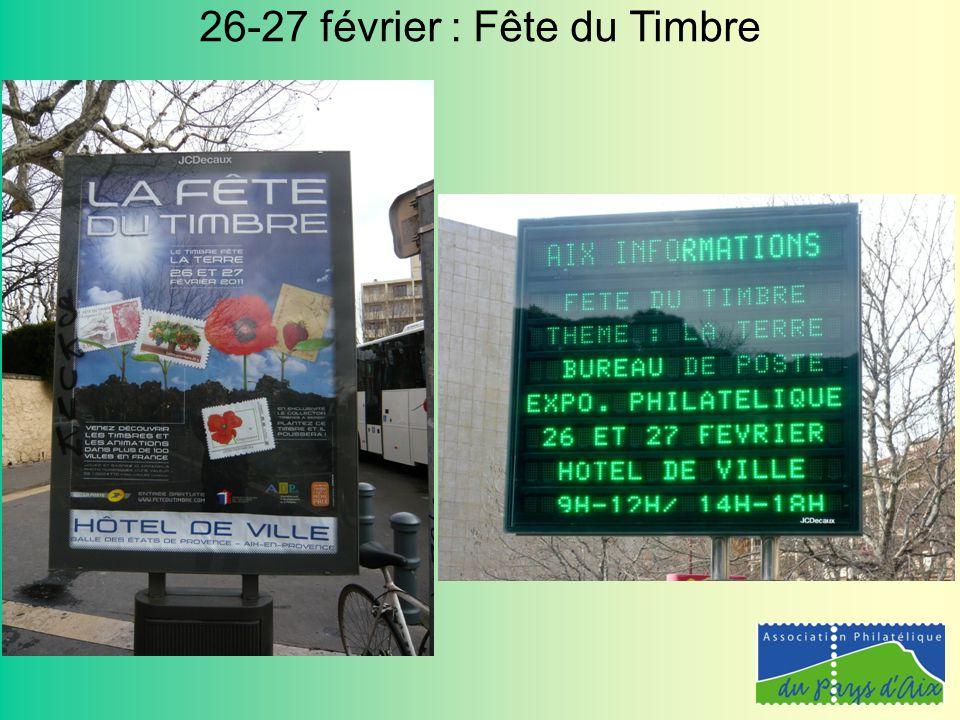 26-27 février : Fête du Timbre