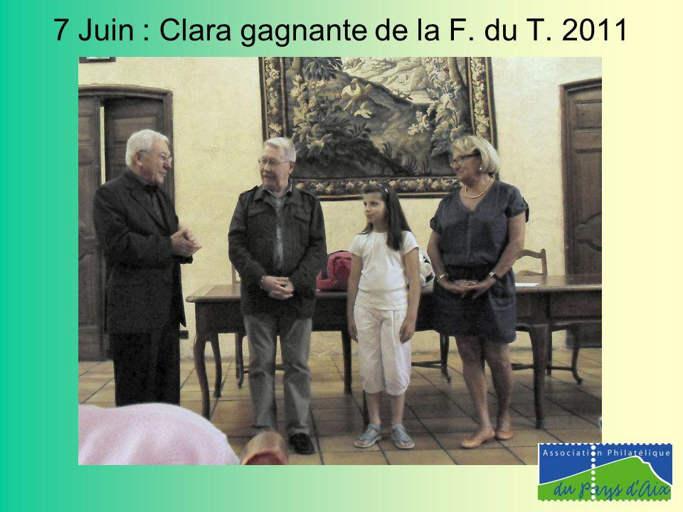 7 Juin : Clara gagnante de la F. du T. 2011