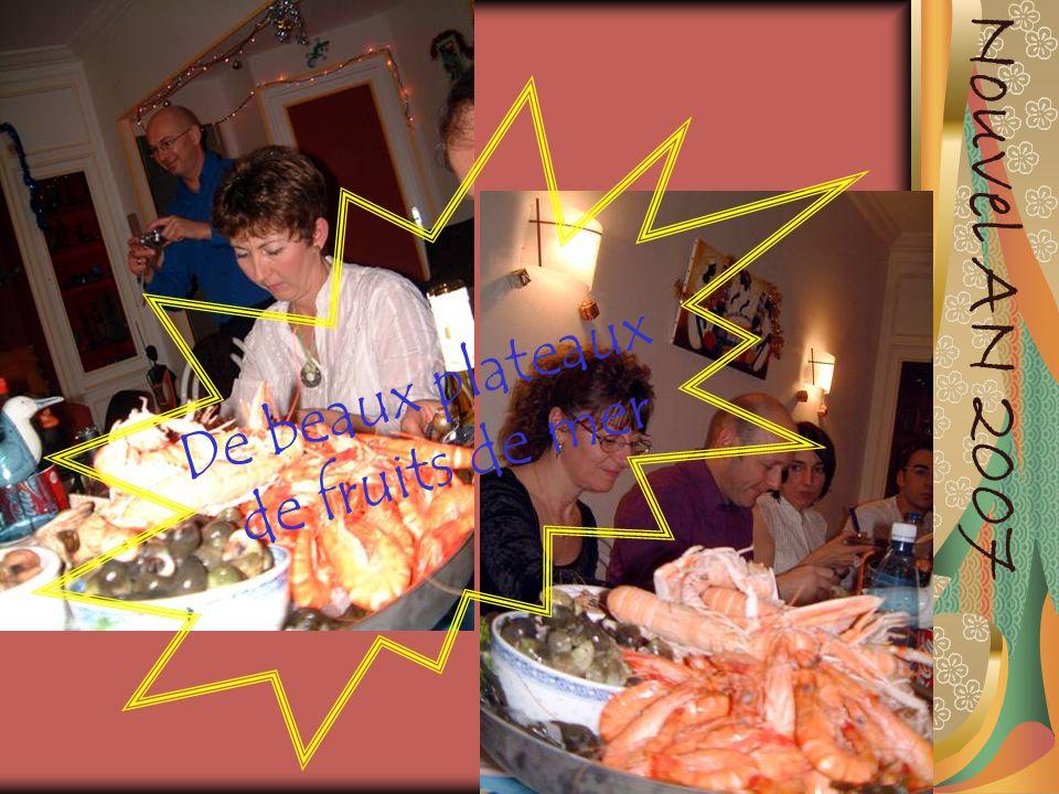 Nouvel AN 2007 De beaux plateaux de fruits de mer