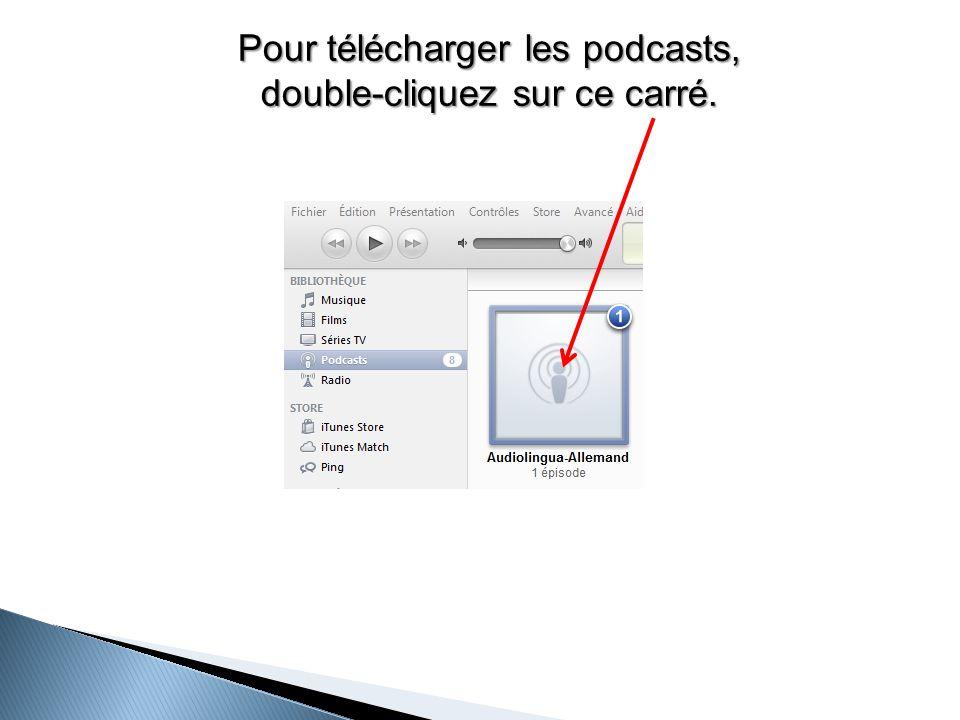 Pour télécharger les podcasts, double-cliquez sur ce carré.