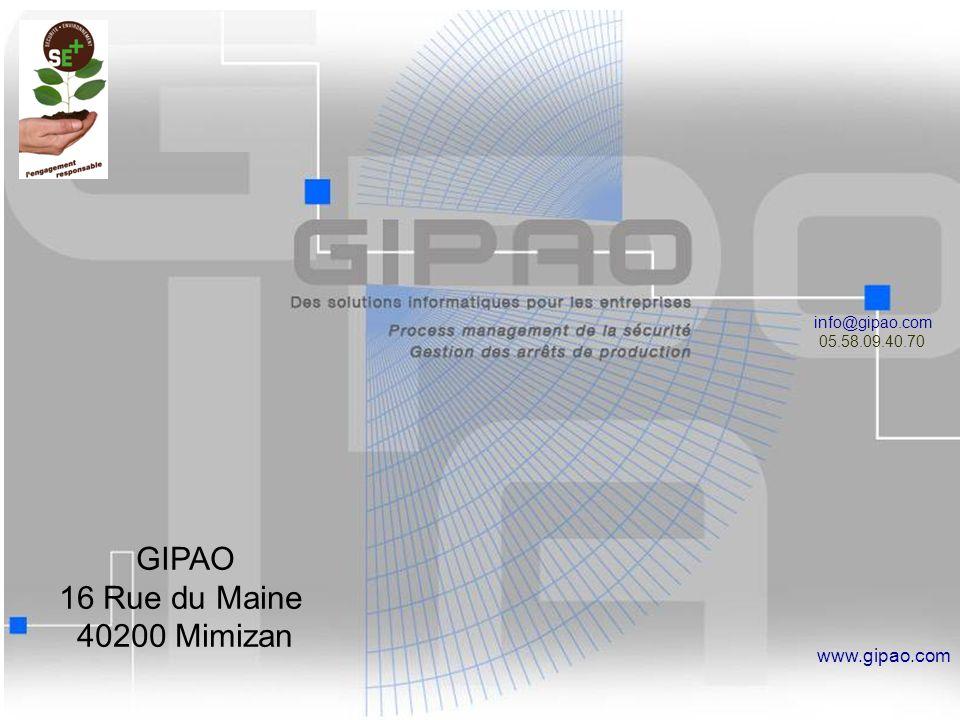 18 info@gipao.com 05.58.09.40.70 www.gipao.com GIPAO 16 Rue du Maine 40200 Mimizan