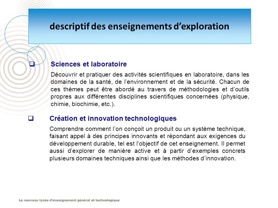 Le nouveau lycée d'enseignement général et technologique  Création et innovation technologiques Comprendre comment l'on conçoit un produit ou un syst