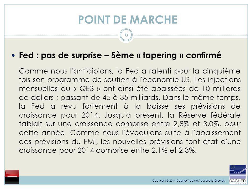 POINT DE MARCHE 7 Copyright © 2014 Dagher Trading.