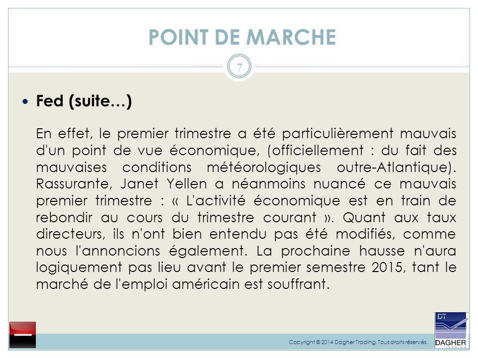 POINT DE MARCHE 8 Copyright © 2014 Dagher Trading.