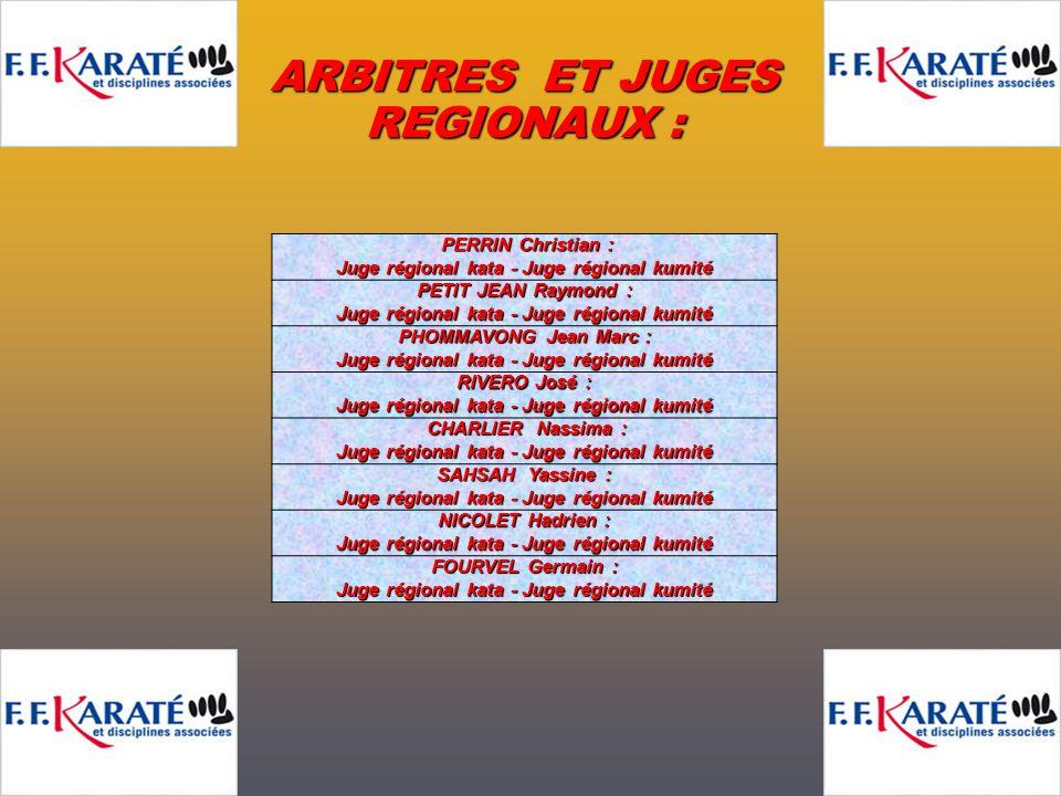 DUREL Jean-Paul : Juge régional kata - Juge régional kumité DEMESY Christiane : DEMESY Christiane : Juge régional kata - Juge régional kumité DORN And
