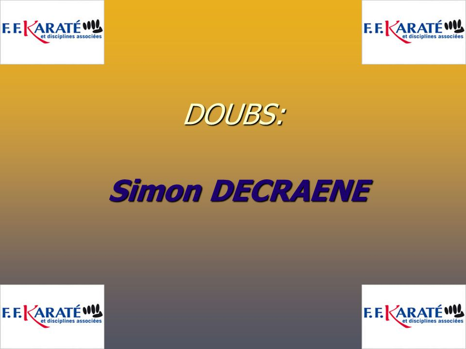 DOUBS: Simon DECRAENE Simon DECRAENE