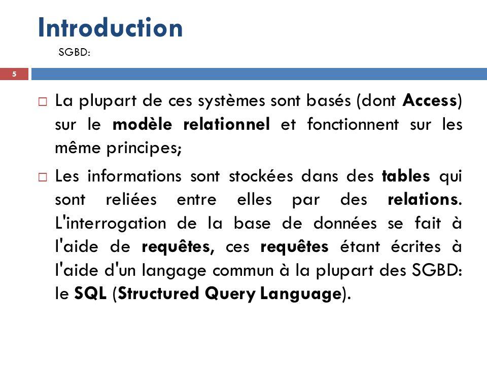 II.Cours SQL 106 Vue  106 Une vue est une Table non stockée dans la base de données mais recalculée à chaque utilisation.
