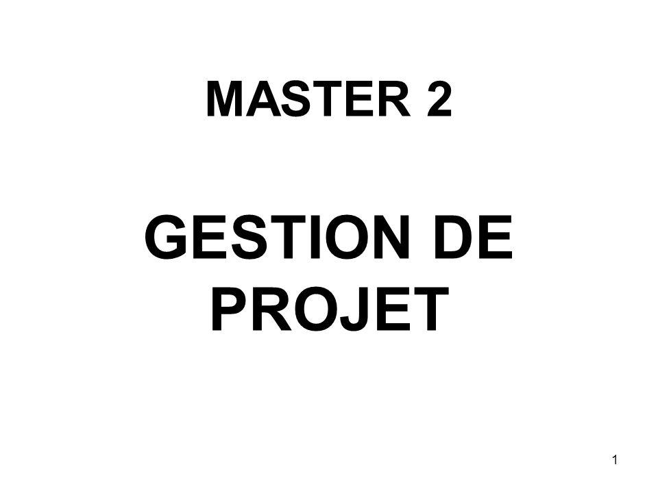 1 MASTER 2 GESTION DE PROJET