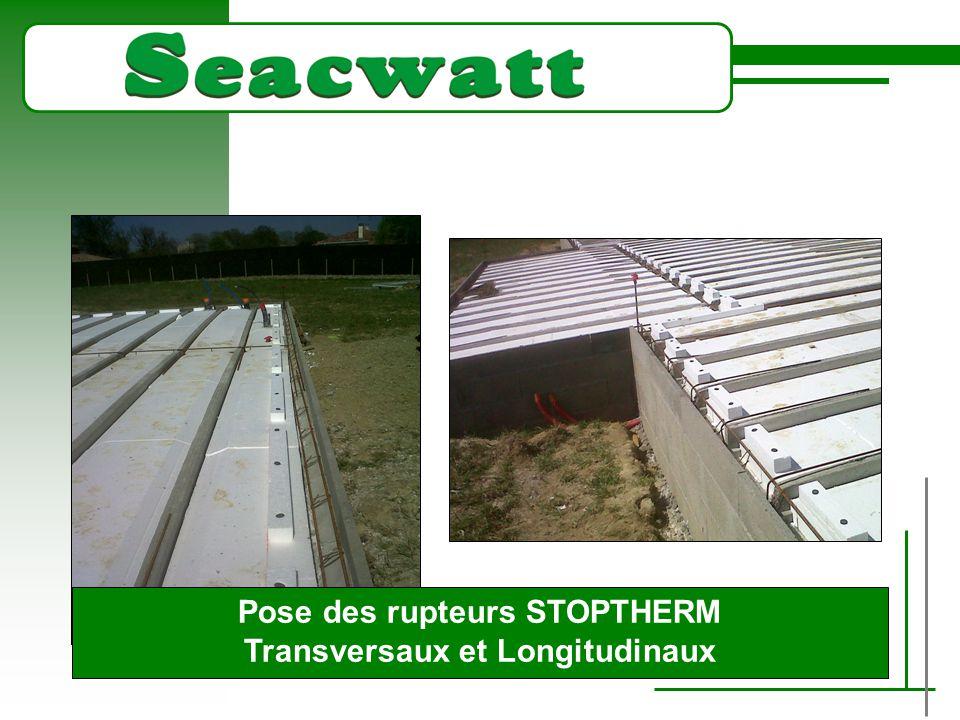 TITRE Plan d'ensemble pour ferraillage du plancher Le Seacwatt permet une amélioration de Up de 0.10 à 0.13 suivant la configuration du plancher.