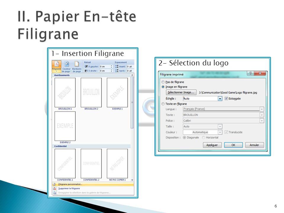 7 Logiciel Publisher :  Respect de la charte graphique réalisée au préalable.